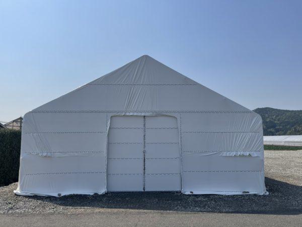 486足場用パイプ使用倉庫用ハウス施工